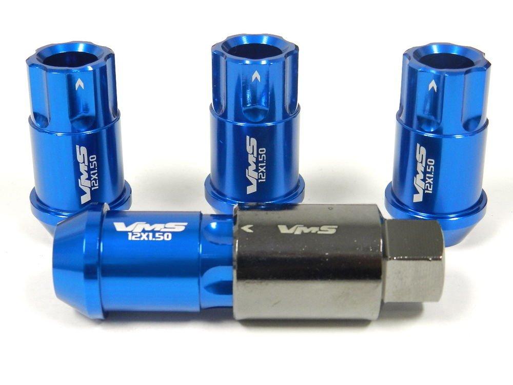 BLUE 20PC LOCKING LUG NUTS WITH KEY 03-12 MAZDA RX8 RX-8 13B-MSP