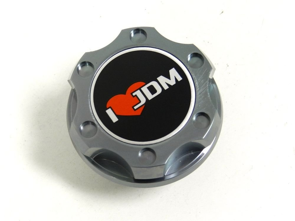 GUNMETAL I LOVE JDM BILLET RACING ENGINE OIL FILLER CAP FOR SUBARU