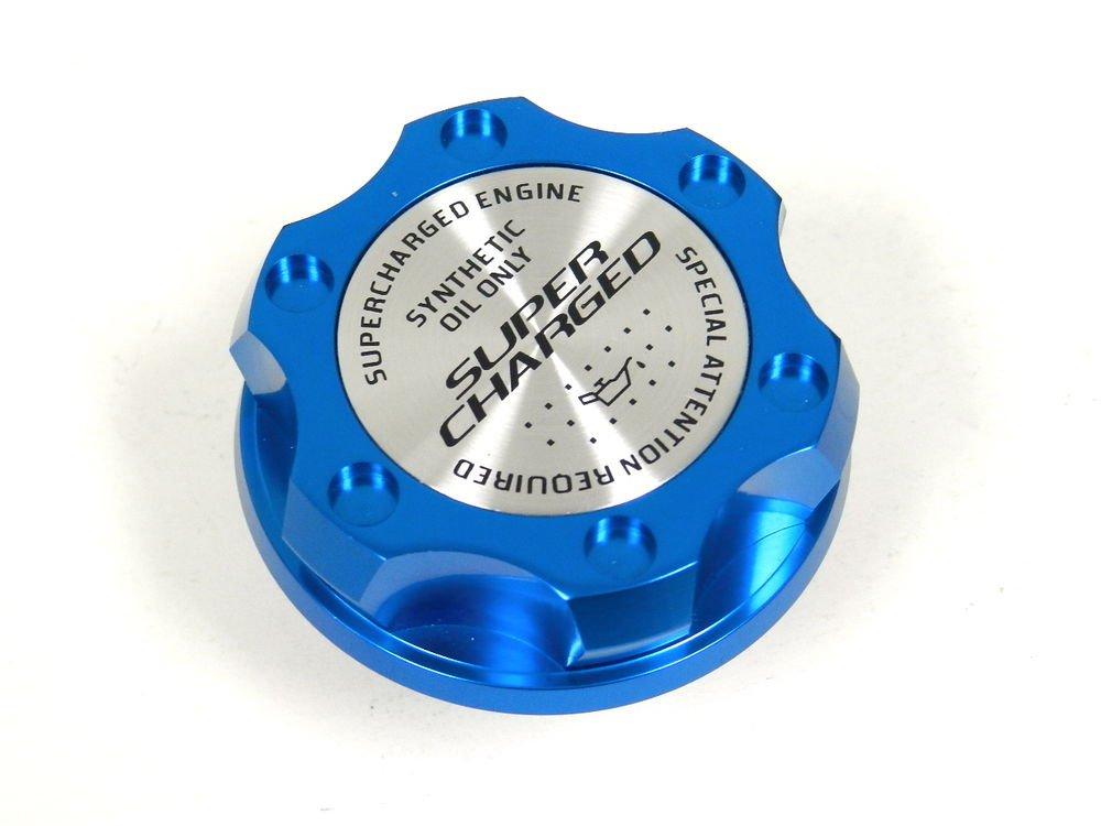 BLUE SUPERCHARGED BILLET CNC RACING ENGINE OIL FILLER CAP FOR MITSUBISHI