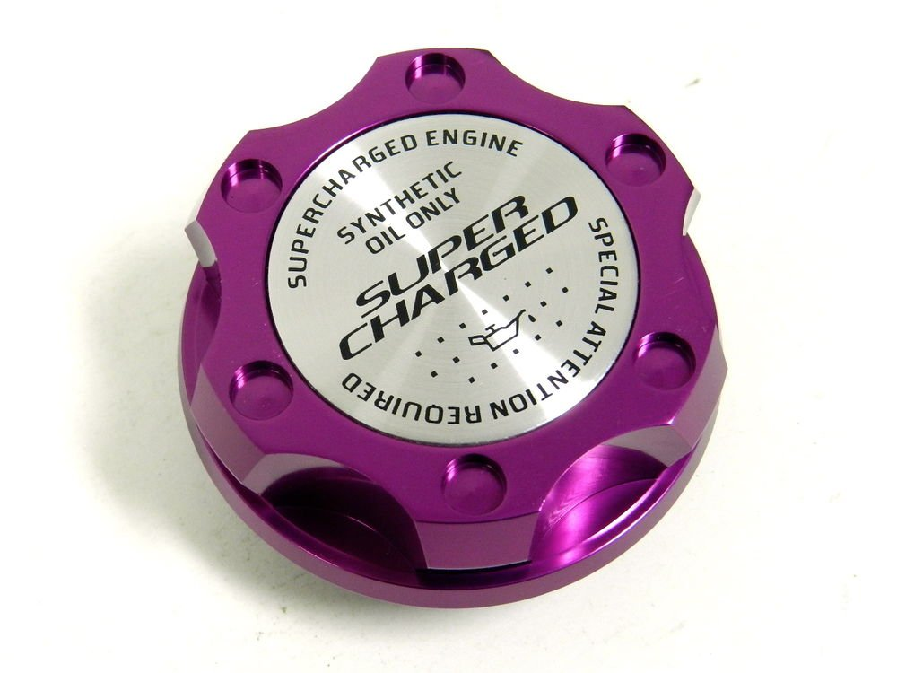 PURPLE SUPERCHARGED BILLET CNC RACING ENGINE OIL FILLER CAP FOR HONDA ACURA
