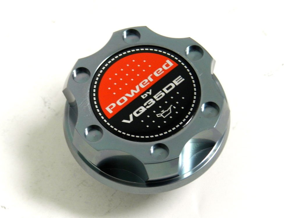 GUNMETAL BILLET RACING ENGINE OIL FILLER CAP NISSAN 350Z G35 VQ35DE