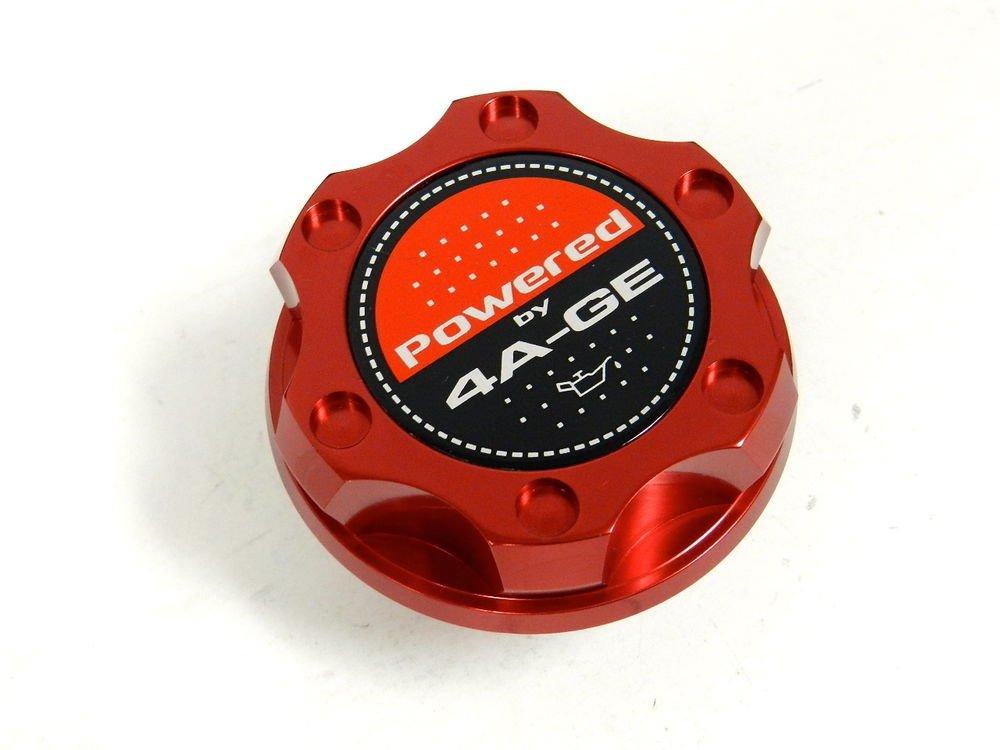 RED BILLET CNC RACING ENGINE OIL FILLER CAP TOYOTA COROLLA CELICA MR2 4AGE