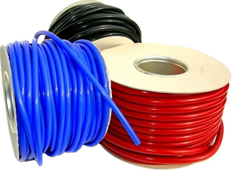 """3FT HIGH PERFORMANCE SILICONE VACUUM HOSE TUBE LINE 5MM 3/16"""" ID  - RED"""