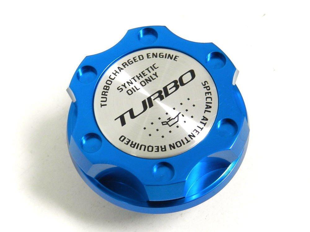 BLUE TURBO BILLET RACING ENGINE OIL FILLER CAP FOR 07-14 MINI COOPER