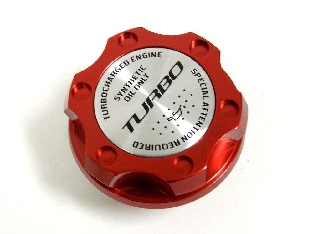 RED TURBO BILLET RACING ENGINE OIL FILLER CAP FOR FIAT 500 / DODGE DART 1.4L