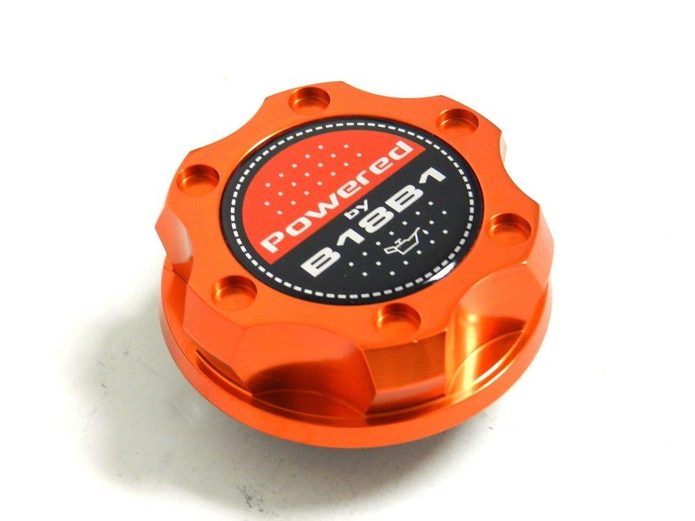 ORANGE BILLET CNC RACING ENGINE OIL FILLER CAP ACURA INTEGRA B18B1