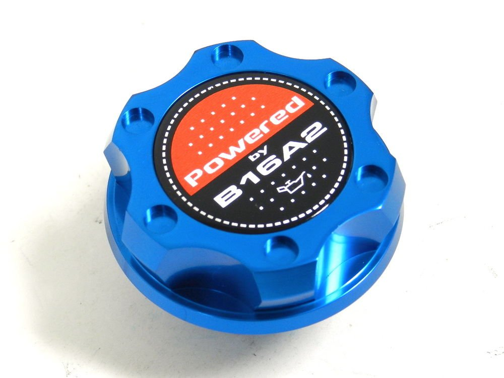 BLUE BILLET CNC RACING ENGINE OIL FILLER CAP HONDA CIVIC DEL SOL CRX B16A2