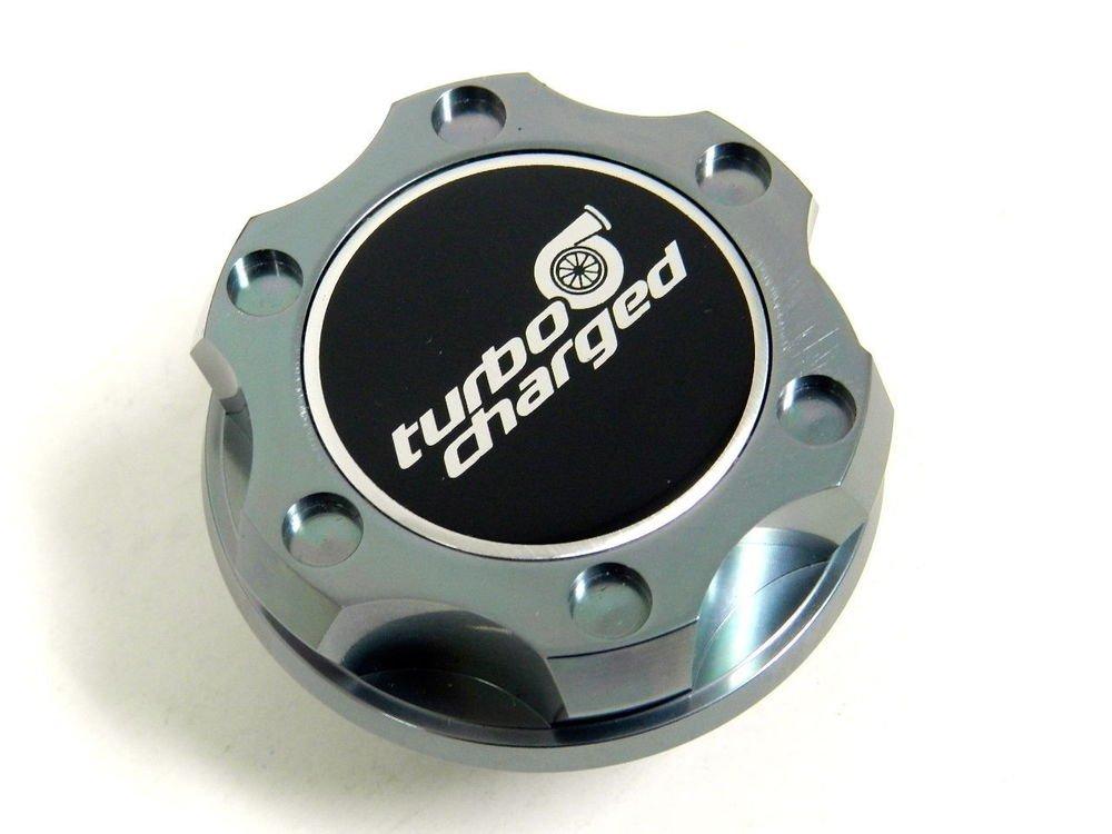 GUNMETAL TURBOCHARGED BILLET RACING ENGINE OIL FILLER CAP FOR 07-14 MINI COOPER