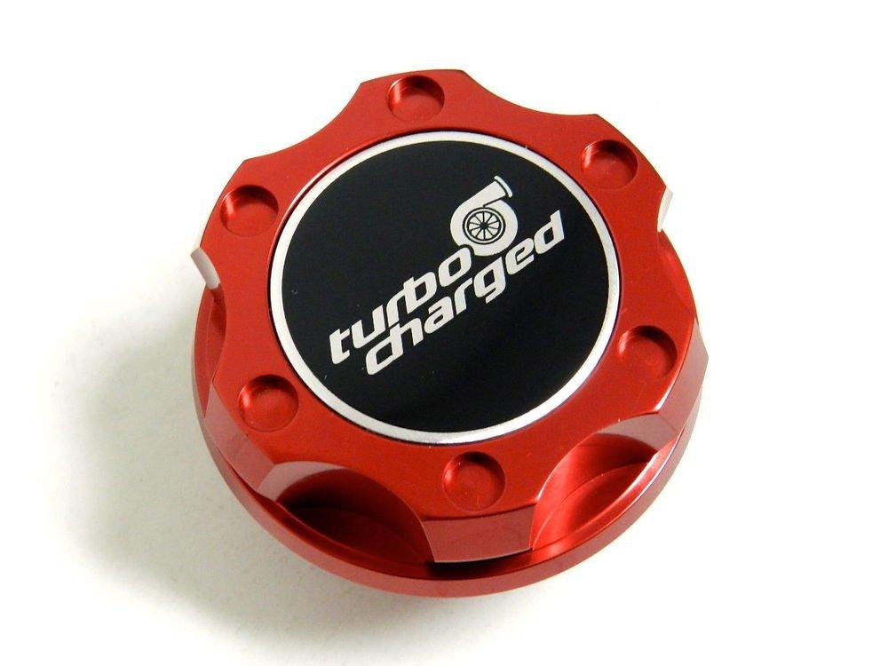RED TURBOCHARGED BILLET RACING ENGINE OIL FILLER CAP FOR FIAT 500 / DODGE DART