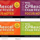Full Set (10 pc) Wiley CPA 2014 Study Guide, Focus Notes & Exam Review Vol.1,2