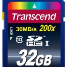 32GB SD Card - Transcend 32 GB Class 10 SDHC Flash Memory Card (TS32GSDHC10E)