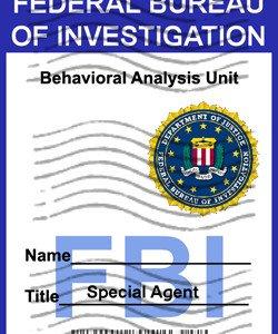 FBI Badge �Criminal Minds� Personalized