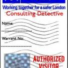 "British Police Badge ""Sherlock"" Personalized"