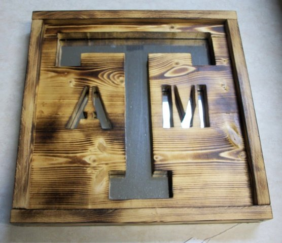 Rustic Texas A&M Mirror