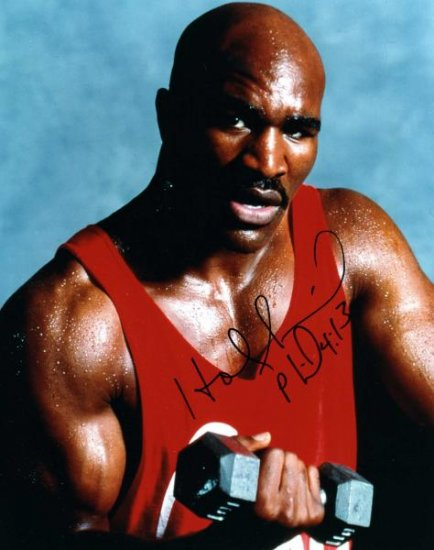"""Evander Holyfield Autographed 8"""" x 10"""" Color Photo"""