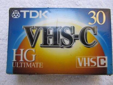 TDK VHS-C 30 HG ULTIMATE Tape