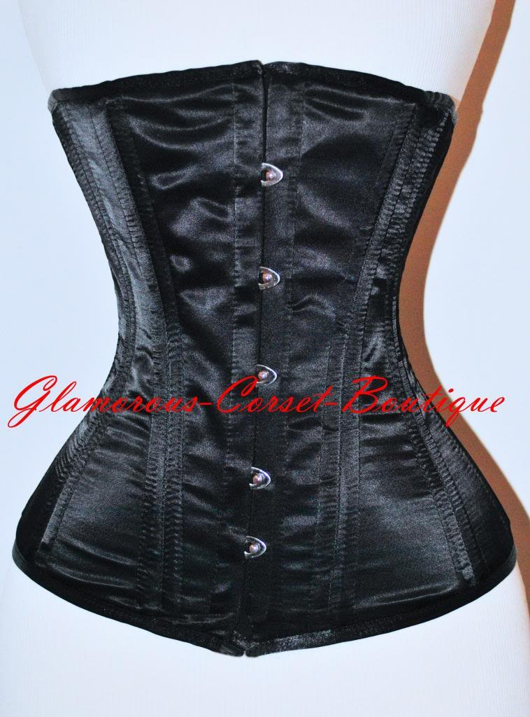 Long Waist Training Underbust Corset Double Steel Boned Cincher LONG TORSO XS-3X