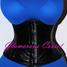 "SHORT Leather Underbust Waspie Corset 8"" Waist Cincher Trainer XS - 3XL"