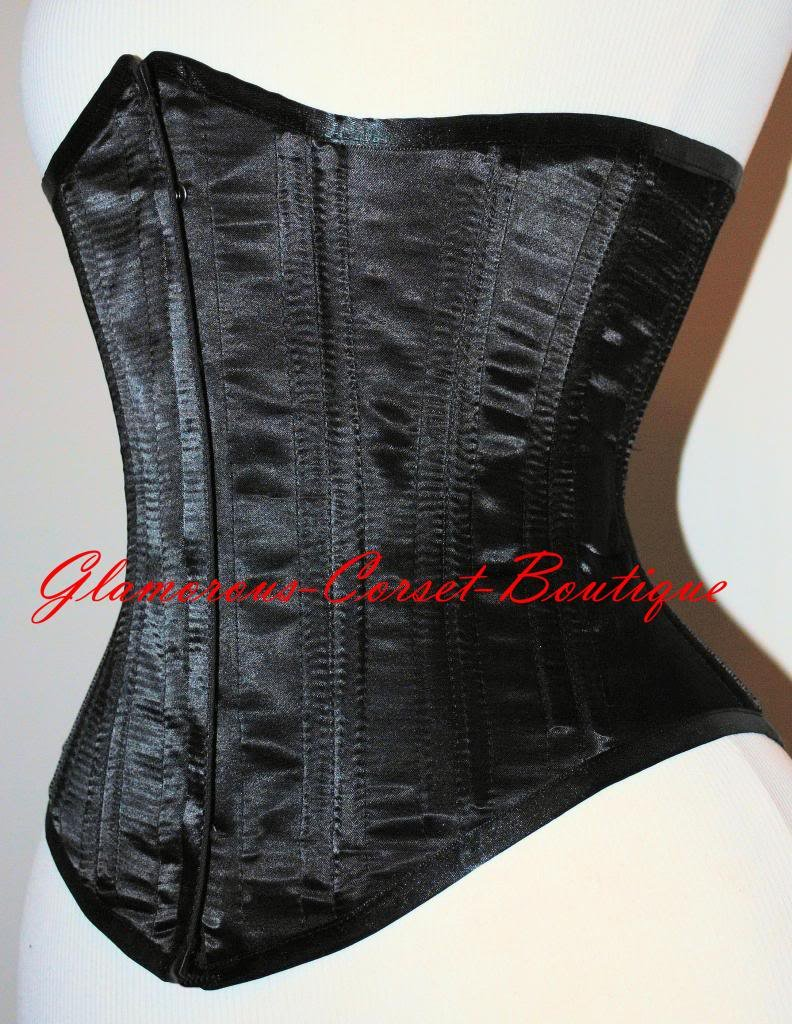 Double Steel Boned Waist Training Corset Underbust Shaper Tight Lacing XS - 3XL