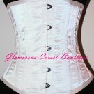 Double Steel Boned Corset 26 steel bones Waist training Underbust Bridal XS - 2X