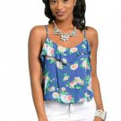 Blue flowy floral top S M L