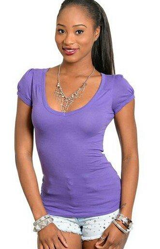 Purple stretch fit top S M L