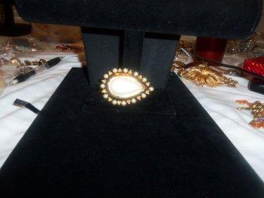 SMB Pearl Brooch Vintage