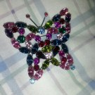 Vintage inspired butterfly pin