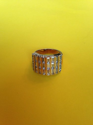 Baguette Crystal Ring, Sz 8