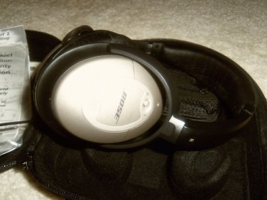 Mint Bose Quiet Comfort 2 QC2 Headband Headphones - Silver/Black
