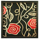3D wooden wall picture for decoration (60*60cm) - red rose A