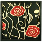 3D wooden wall picture for decoration (60*60cm) - red rose C