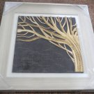3D wooden wall picture for decoration (39*39cm) - tree left