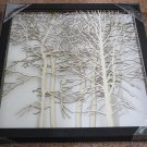 3D wooden wall picture for decoration (48*48cm) - forest A