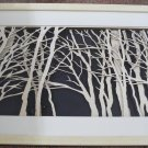 3D wooden wall picture for decoration (95*55cm ) - forest