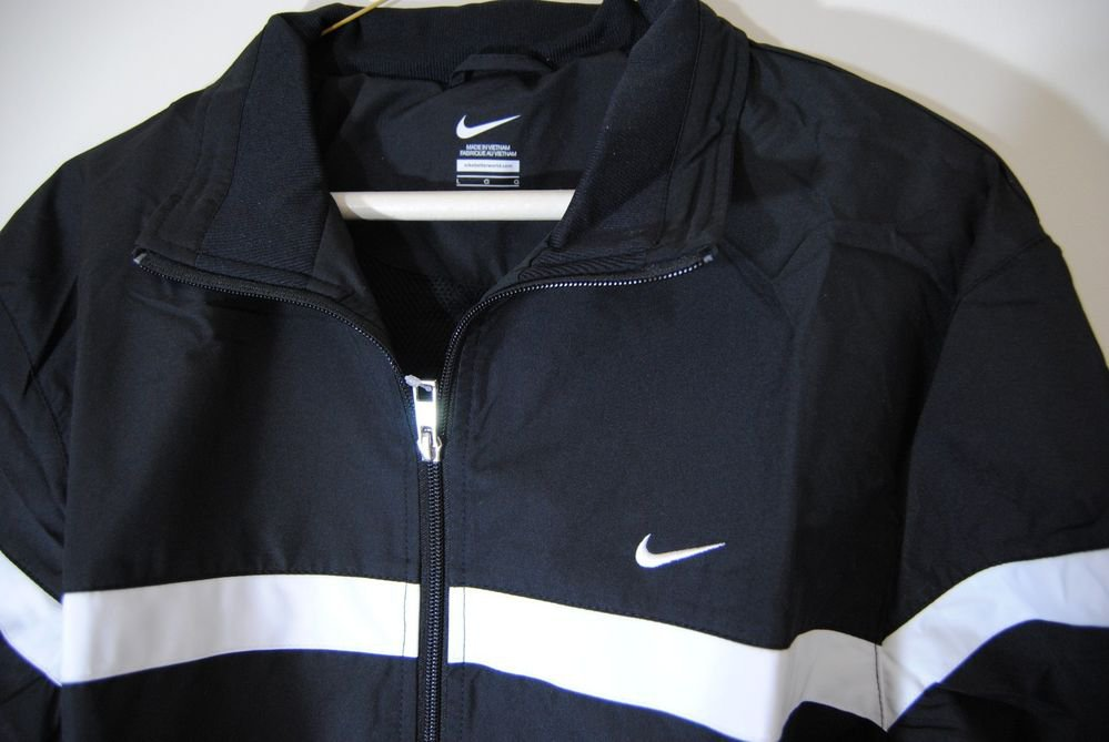 f73c94088e8a Nike Classic Woven Track Jacket Men s Training Running 404501-010 Black  White