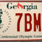 1996 Georgia Centennial Olympic Games License Plate (7BM47)