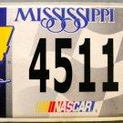2006 Mississippi License Plate: NASCAR #24 Jeff Gordon (4511)