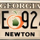 2006 Georgia License Plate (AQE 9244)