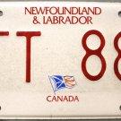 2008/2009 Newfoundland & Labrador License Plate Canada (HFT 889)