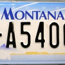2003 Montana License Plate (7-A54068)