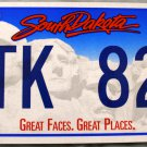 2012 South Dakota License Plate (2TK 826)