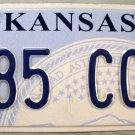 2013 Kansas License Plate (785 CCW)
