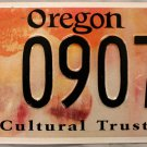 2008 Oregon Cultural Trust License Plate (CU 09075)