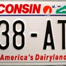 2001 Wisconsin License Plate (238-ATP)