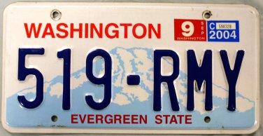 2004 Washington License Plate (519-RMY)