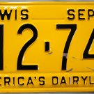1958 Wisconsin License Plate (L12 741)