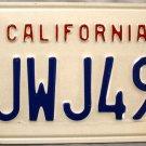 1994 California License Plate (2JWJ490)