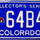 1997 Colorado Collector's Series License Plate (64B45)