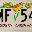 1998 South Carolina License Plate (VMF 547)
